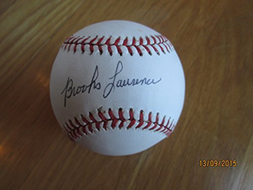 BROOKS LAWRENCE Signed Official League Baseball -JSA Authenticated #N25472