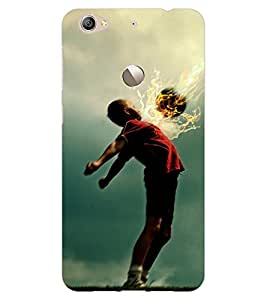 ColourCraft Football Lover Design Back Case Cover for LeEco Le 1S