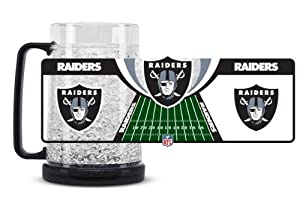 Oakland Raiders Crystal Freezer Mug by Hall of Fame Memorabilia