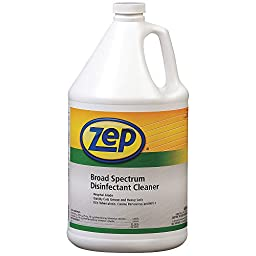 Zep Professional R02324 Clear/Green Broad Spectrum Disinfectant Cleaner, Citrus Fragrance (Case of 4 Gallons)