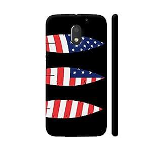 Colorpur USA Feathers Designer Mobile Phone Case Back Cover For Motorola Moto E3 / Moto E3 Power   Artist: Torben
