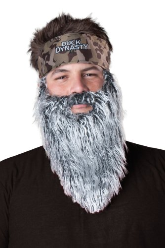 Duck Dynasty Men's Phil Plush Accessory Kit, Silver, One Size