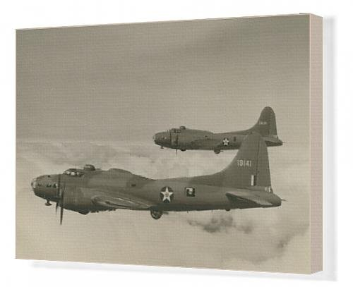 Canvas Artwork of Two Boeing B-17E Flying Fortress, 41-9131 and 41-9141