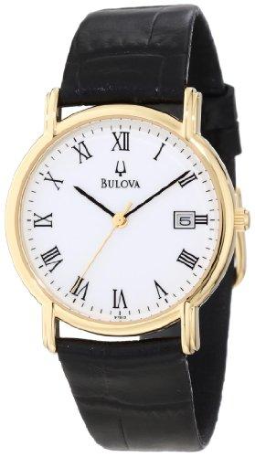 Bulova Men's 97B13 Black Tortoise Shell Leather Watch