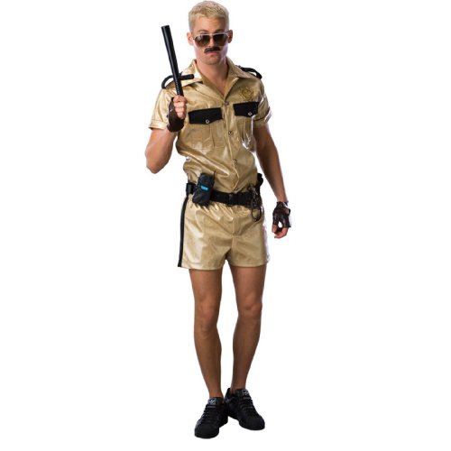 Lets Party Reno 911 Deluxe Lt. Dangle Adult Costume - Size Standard - One Size