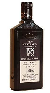 Cortijo de Suerte Alta Coupage Natural- Award Winning, NOP Organic Certified, Cold Pressed EVOO Extra Virgin Olive Oil, 2012-2013 Harvest, 17-Ounce Glass Bottle