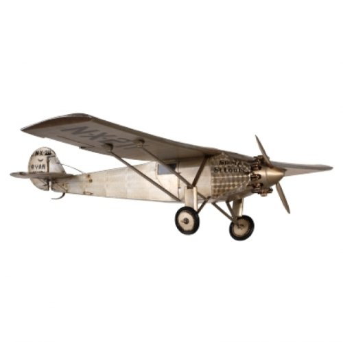 ProPassione Airplane Model Sprit of St. Louis, canvas/aluminium, l 15.5 x w 32 x h 3 cm