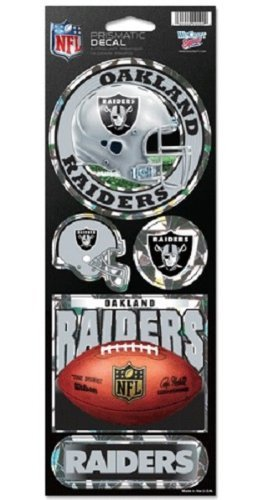 Oakland Raiders Large 5 Pack of Holographic Stickers