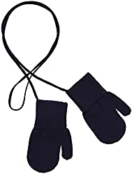 Anais and I Little Boys' Mittens (Toddler/Kid) - Navy - Large