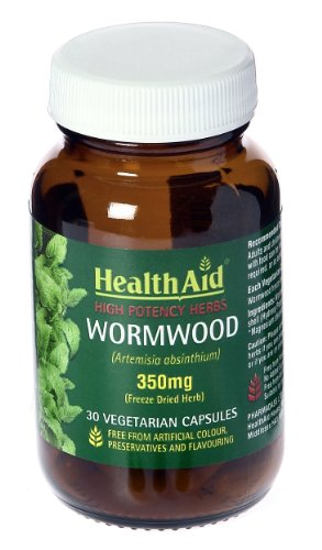 HealthAid Wormwood Extract 350mg - 30 Vegicaps