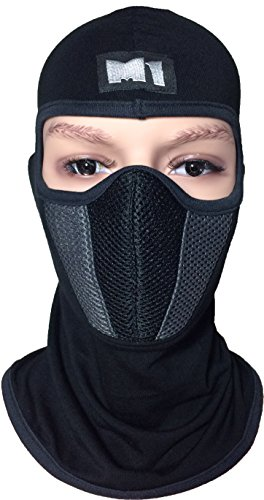 M1-Full-Face-Cover-Balaclava-Protection-Filter-Plain-Mask-Grey-BALA-FILT-GREY
