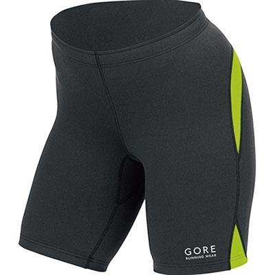 Buy Low Price Gore Running Wear Women's Sunlight Lady Short Tight, Black/Lime Green, Large (TSUNLV997309)