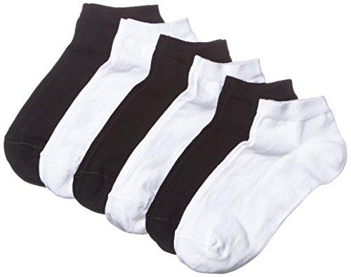 MyWay - MyWay women sneaker socks 6er, Calze da donna, nero (black/white 968), 35/38