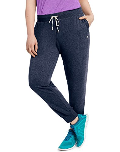 Champion Women's Plus French Terry Jogger Pants (1X, Navy Heather)