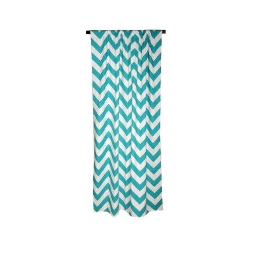 Amazon.com - Chevron Cotton Curtain Single Panel Color: Turquoise ...