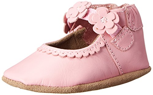 Robeez Claire Mary Jane Crib Shoe (Infant), Pink, 6-12 Months M US Infant