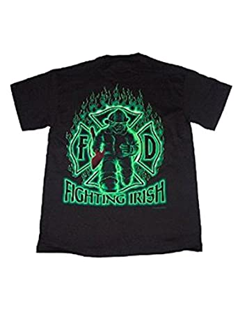 Firefighter T-Shirt Fighting Irish Fireman Tee-medium