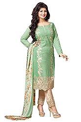Mahaveer Fashion Women's Dress Material (8955_25_72001_Green_Free Size)