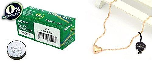 Sony 379 SR521SW Lot de 10 piles pour montre à l'oxyde d'argent 0 % mercure
