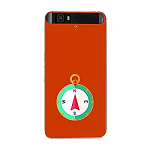 Skin4gadgets Designer Compass Colour - Orange Red Phone Skin for GOOGLE NEXUS 6P