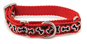PetSafe Fido Finery Martingale-Style Dog Collar, 3/4-Inch, Small, Rolling Bones