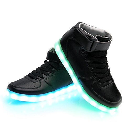 iTURBOS SuperNova+ Hover Light Up Shoes - Light Up LED Shoes for Women - 7 Static & 3 Dynamic Color Modes, 1 Strobe Mode - Trendy Rechargeable LED Sneakers (Charger Included) Black 37 (Ninja Turtles Nike Shoes compare prices)