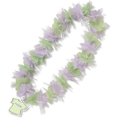 Purple and Green Fabric Lei Mom To Be Baby Shower Party Supplies