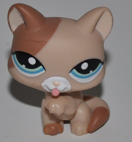 Shorthair #1363 (Blue Eyes) - Littlest Pet Shop (Retired) Collector Toy - LPS Collectible Replacement Figure - Loose (OOP Out of Package & Print)