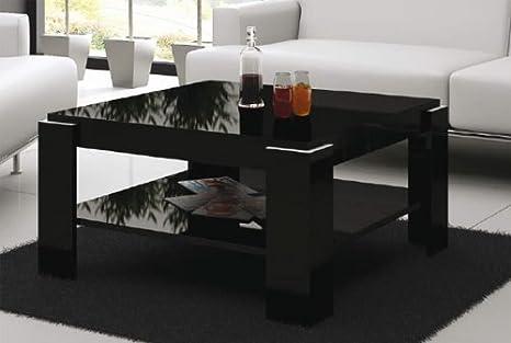 Couchtisch Sofatisch Wohnzimmer schwarz hochglänzend