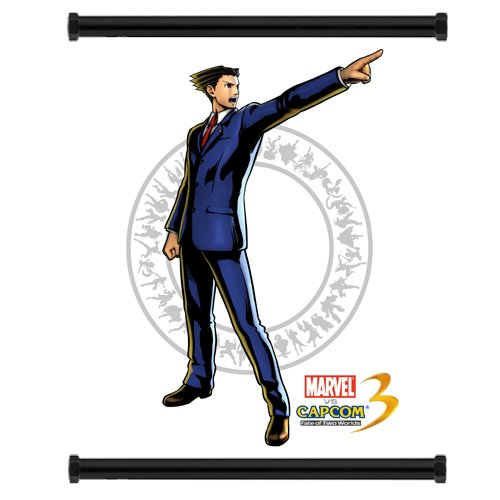 Marvel Vs Capcom 3 Ace Attorney Phoenix Wright Game Fabric Wall Scroll Poster (16X21) Inches
