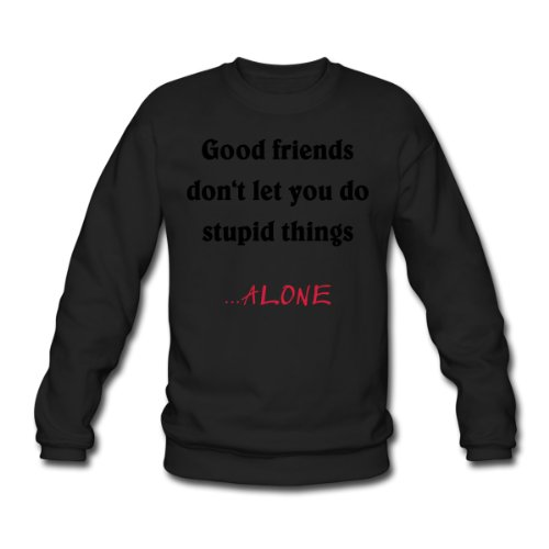 Spreadshirt, good friends..., Men's Sweatshirt, black, L