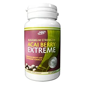 New - Maximum Strength Acai Berry Extreme Weight Loss, Appetite Suppressant, Carb Blocking, Fat Burning Supplement