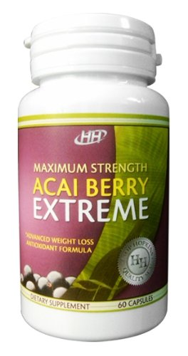 Maximum Strength Acai Berry Extreme with Green Tea Extract Weight Loss, Appetite Suppressant, Carb Blocking, Fat Burning Supplement