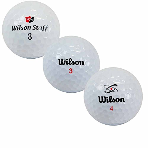 LBC-Sports 100 Wilson Mix - AAAA-AAA - weiß - gebrauchte Golfbälle - Lakeballs - Teichbälle