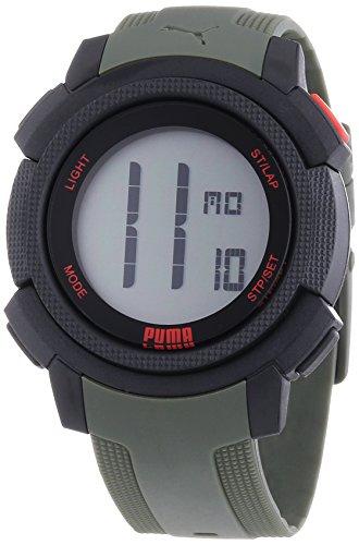 Puma Time NEXT PU911151003 - Orologio da polso da uomo, cinturino in resina colore verde