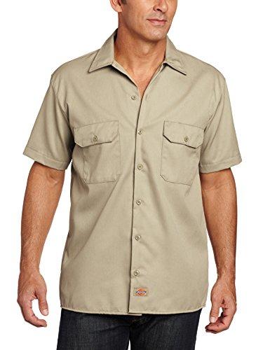 Dickies - Camicia a maniche corte, Uomo, Beige (Khaki KH), X-Large (Taglia Produttore: X-Large)