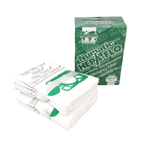 Numatic NVM-1CH HepaFlo Disposable Filter Bags Pack - for the Henry HVR200A the Hetty HET200A the JamesB001D4XP2W
