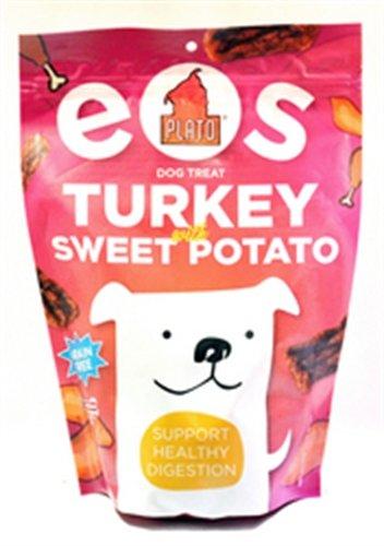 Plato Treats EOS Grain Free Turkey and Sweet Potato Dog Snack, 12-Ounce Bag