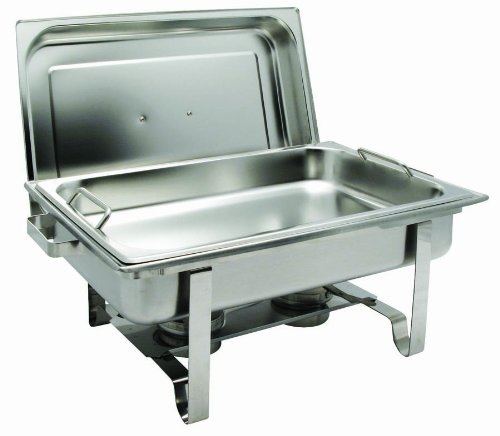 Get-A-Grip Chafer with Food Pan Handles C-2080B 8Qt Stainless Steel