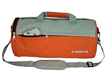 MIER Barrel Travel Sports Bag Small Gym Bag with Shoes Compartment 16inches