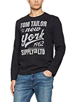 TOM TAILOR Camiseta Manga Larga (Gris)