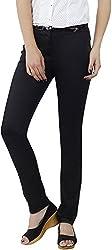 Fashion Stylus Women's Slim Trousers (FT-008_32, Black, 32)