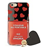 IPHORIA アイフォリア Couleur au Portable Love Attack Jewelery Mold for iPhone6/6S ケース クルール・オ・ポータブル ラブ アタック ジュエリー モールド レッド 並行輸入品 ハート [並行輸入品]