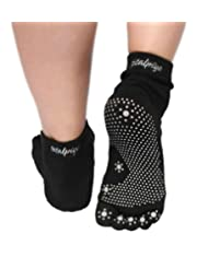 Silicone Dots Non-slip Traction Grip Yoga Toe Socks