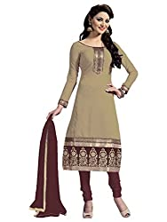 Nilkanth Enterprise Light Brown Dress Material