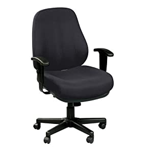 24 hour heavy duty ergonomic task chair charcoal dove fabric black base home kitchen - Ergo kids task chair ...