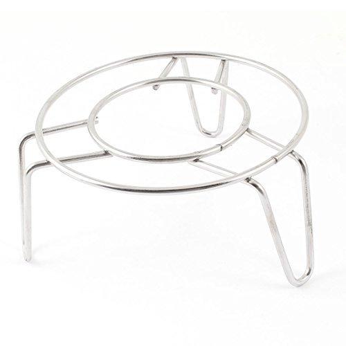 Edelstahl Küchen 10,16 cm Durchmesser rund Dampfgarer Fahrradständer