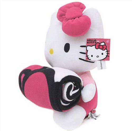 Hello Kitty Plush Doll with Fleece Blanket - 1