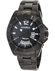 Haurex Italy Men's 7N366UNN Aston Black PVD Day and Date Steel Bracelet Sport Watch