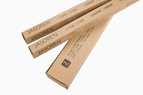 Jasoren LED Tube T8 2ft Bright Light 12W 2-pack